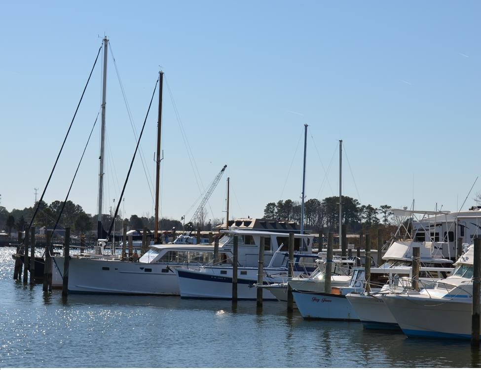 Boats in the York Haven Marina